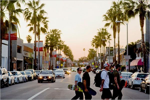 Abbot Kinney Blvd in Venice: one of the funkiest shopping/dining streets in all of L.A.