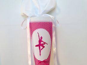 Inspiration für den Schulanfang und die Einschulung: Schultüte Ballerina pink Zuckertüte Stoff / inspiration for the first day of school made by Kunstwerkstatt der Wolle via DaWanda.com