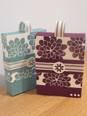 CraftyCarolineCreates: Slide on lid Gift Box, Card Set Tutorial using Flower Patch from Stampin' Up