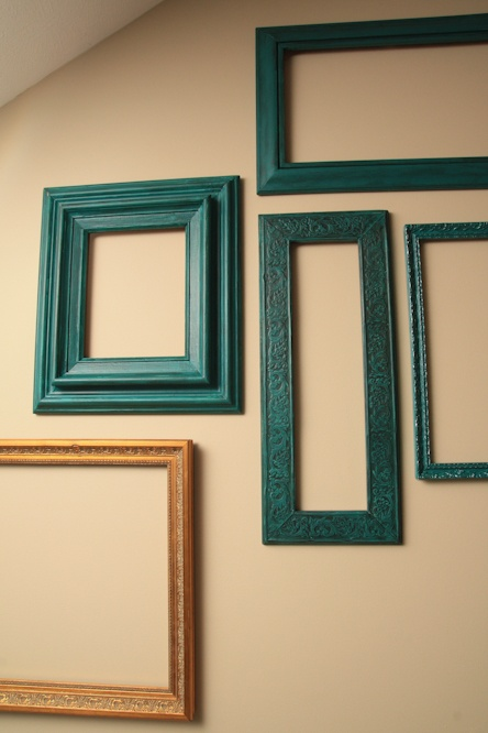 diy on painting these cute frames - Empty Frames