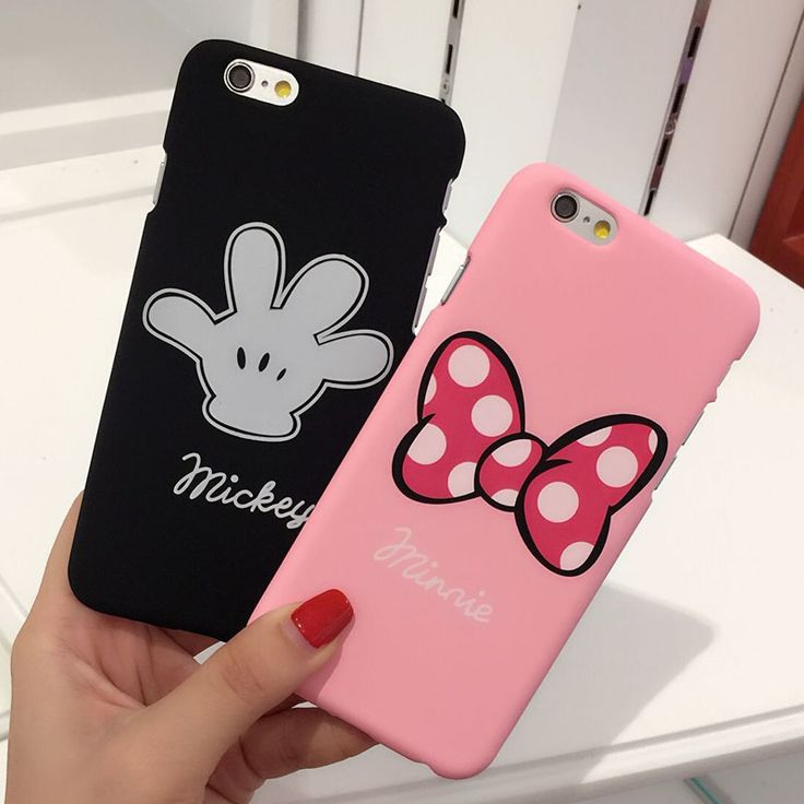 Cute Cartoon Mouse Minnie Mickey Case For iphone 7 Plus 6 6S 5S Plastic PC Hard Back Cover Lovers Phone Cases Coque Fundas Para