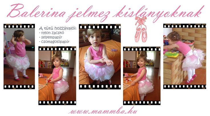 Balerina jelmez kislányoknak / Ballerina costume for girls (tutu is made from plastic bags and wrapping paper)