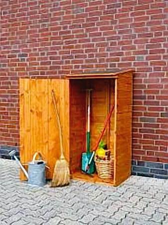 Perfect Promadino Holz Ger teschrank Speyer Ger tehaus Schuppen Schrank honigbraun