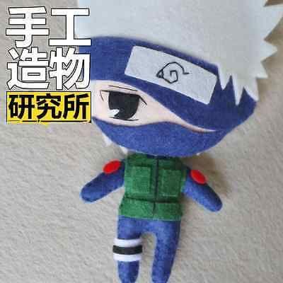 Anime Naruto Hatake Kakashi Llavero Llavero Muñeca Juguete Llavero hágalo usted mismo material B