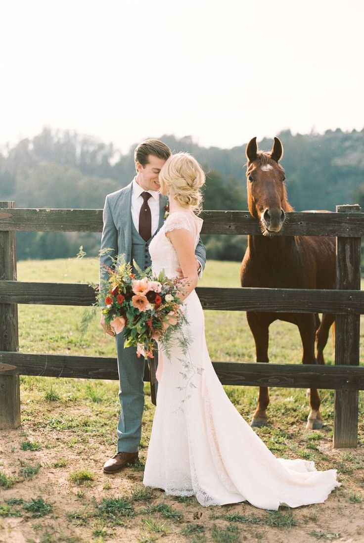 Equestrian wedding shoot