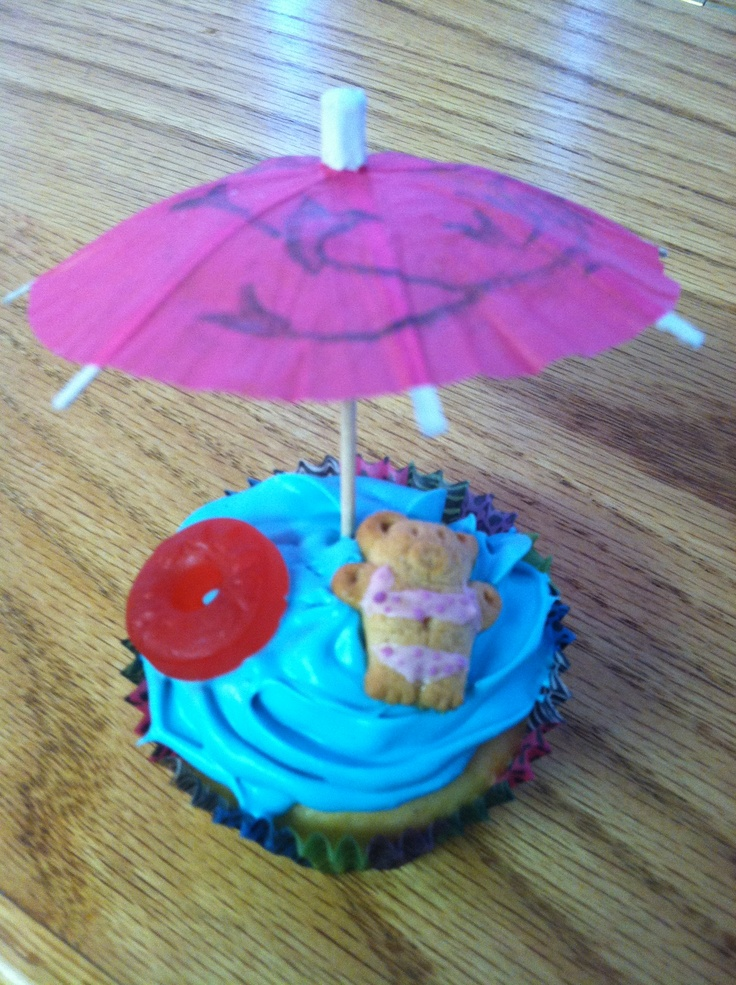 Bear at the pool cupcakes for our daughters swim party