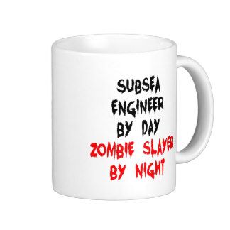 Zombie Slayer Subsea Engineer Coffee Mug
