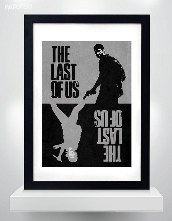 The LAST OF US Joel & Ellie  Wall Art Print Game  от MixPosters, $20.00