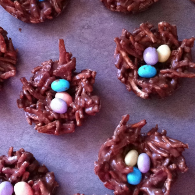 Chocolate Coconut Nests With Jelly Bean Eggs Recipes — Dishmaps