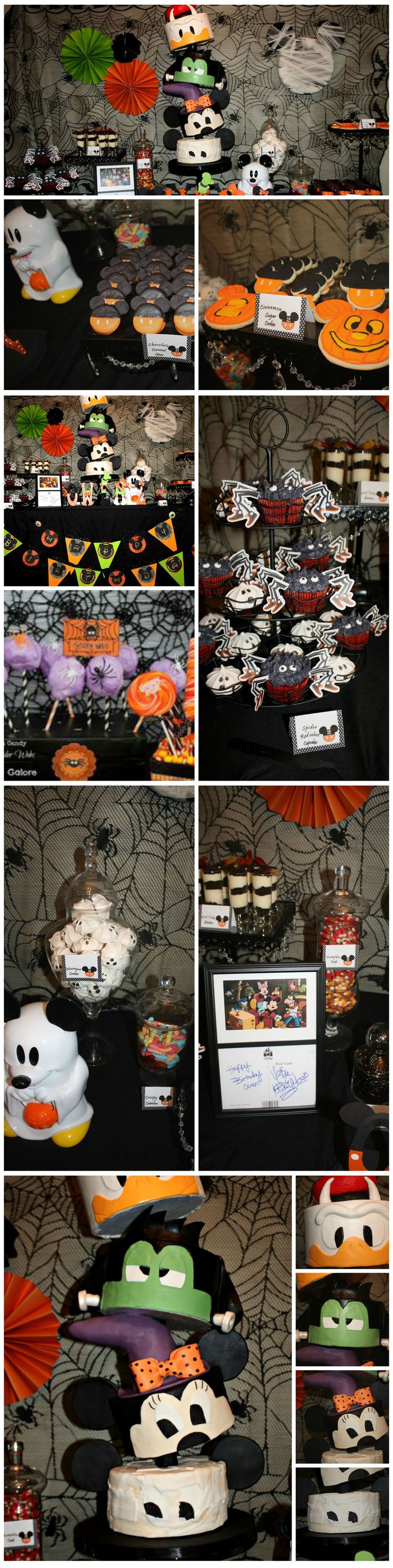 Some fun buffet ideas for a Mickey Mouse & Friends Halloween Party.