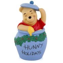 Winnie The Pooh Figurine Hunny Holidays Walt Disney Honey Pot Christmas 1217831