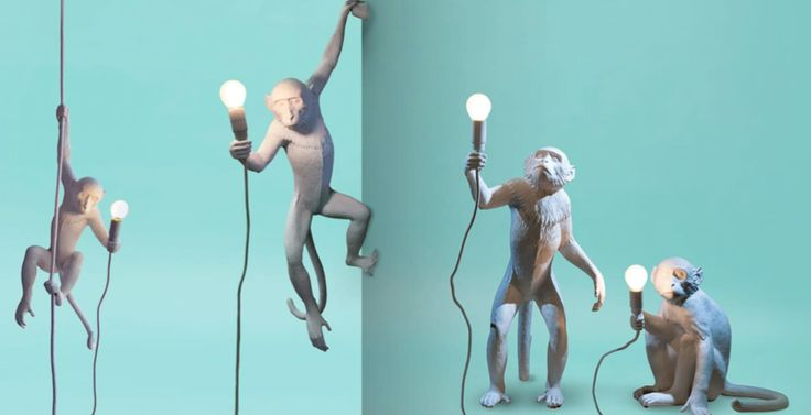 SELETTI MONKEY LAMP - HANGING