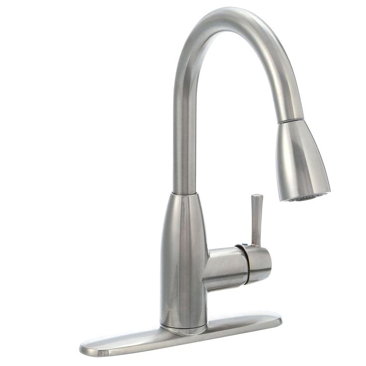 The American Standard Fairbury Single Handle Pull Down Sprayer Kitchen Faucet In Stainless Steel Complements Kitchens With Mode Kitchen Faucet With Sprayer Kitchen Faucets Pull Down Faucet
