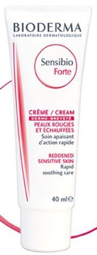 Bioderma Sensibio Forte Cream 40 Ml by Bioderma. $25.95. redness of mechanical or chemical origin. Rapid soothing care for intolerant skin suffering from redness and overheating. Rapid soothing care for intolerant skin suffering from redness and overheating: redness of mechanical or chemical origin (friction, after shave irritation, depilation, peeling...), overheating after a dermatological operation (Post-LASER), sunburn. ? Rich in soothing, modulating active ingredie...
