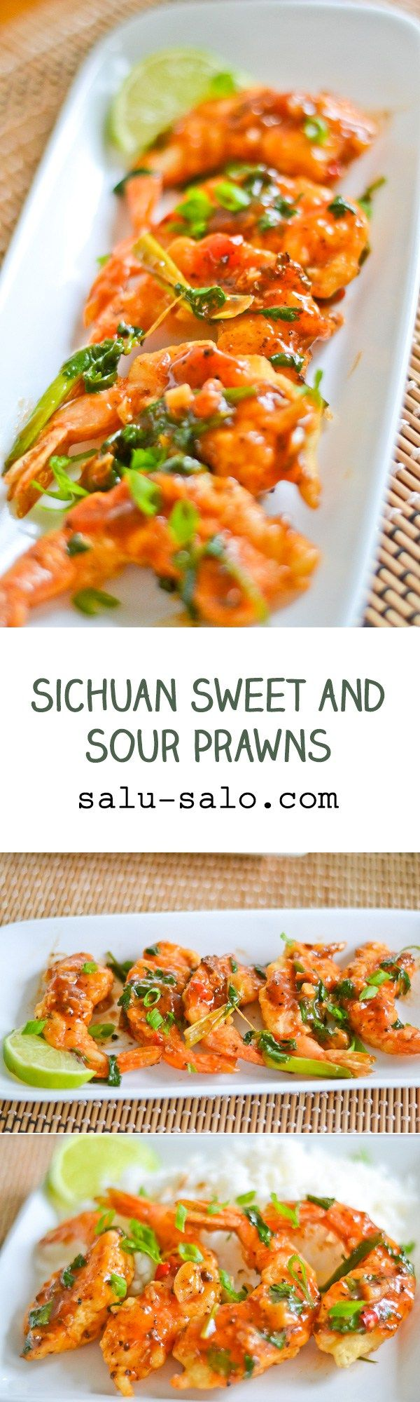 In this Sichuan Sweet and Sour Prawn recipe, prawns are first dipped in a batter, fried and then coated with a Sichuan style sweet and sour sauce.