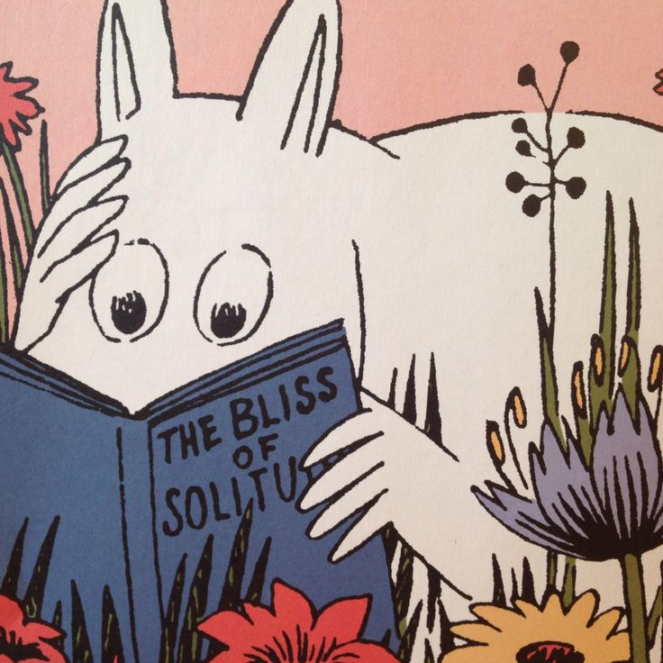 moomin shows us the wat , this weekend get out in a meadow and relax with a good book fun for friday from moomin
