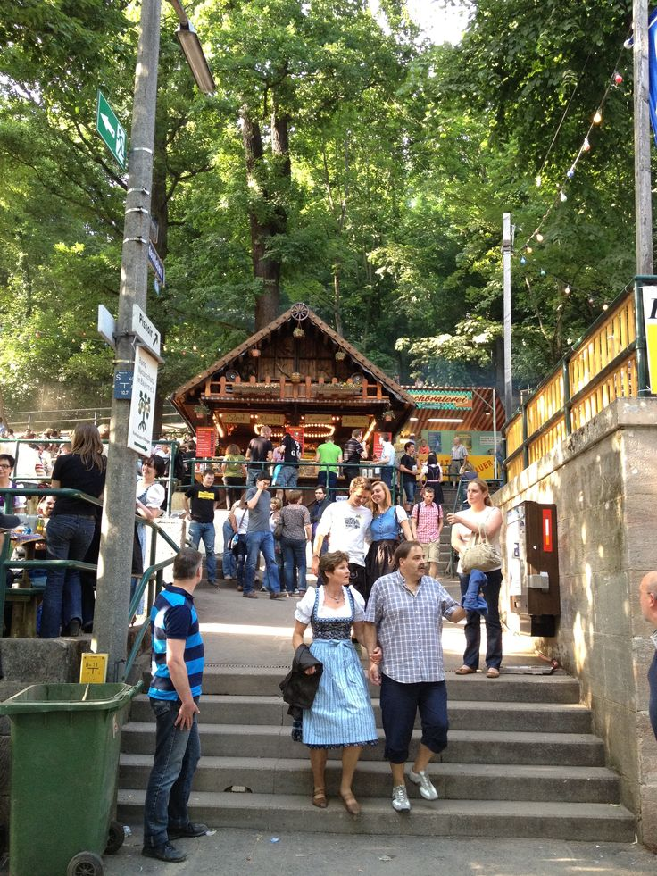 Erlangen, Germany -  Home of the largest open air biergarten in Europe.  The 2012 Bergkirchweih Erlanger (Beer Festival), May 24-June 4.