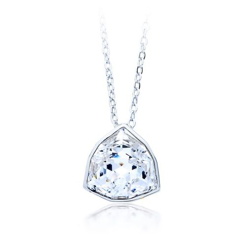 Trillion Brief Pendant with Clear Swarovski® Crystal