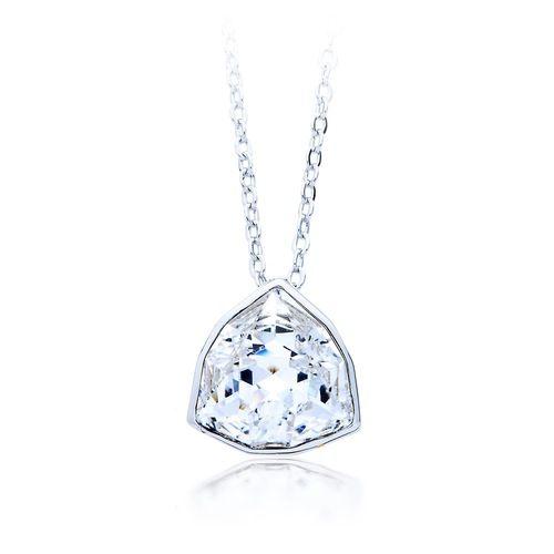 Trillion Brief Pendant with Clear Swarovski® Crystal