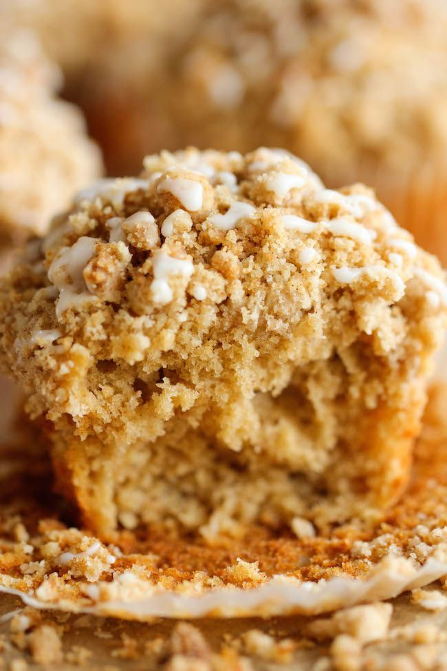 The classic coffee cake is transformed into a convenient muffin, loaded with a mile-high crumb topping!