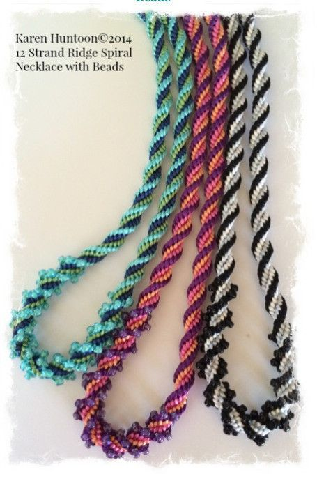 12 Strand Ridge Spiral Necklace Kits