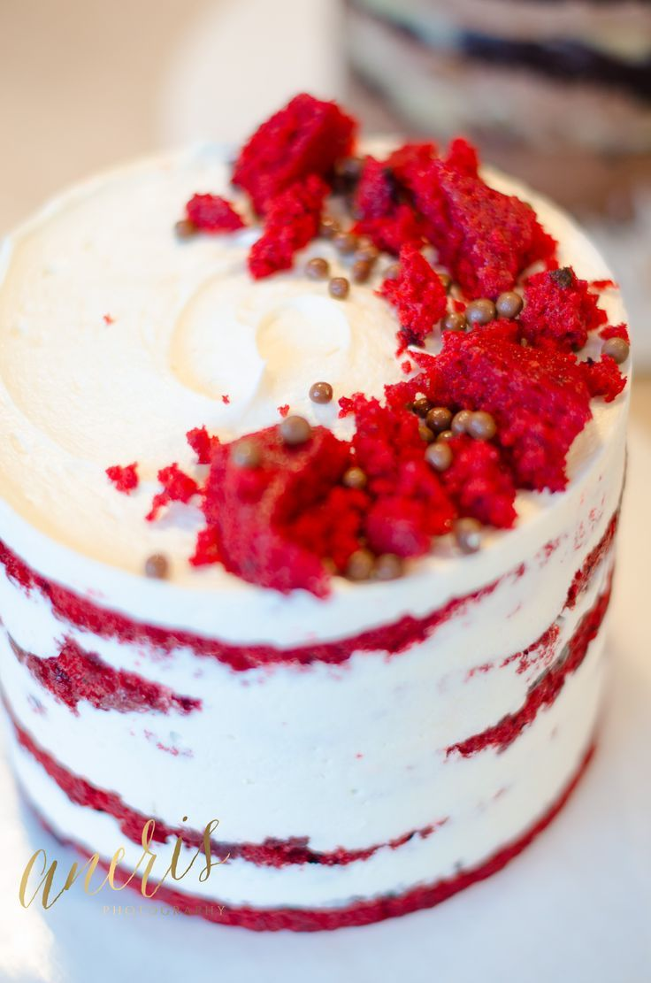 Red Velvet Naked Cake   Photo by: Aneris Photos  http://www.anerisphotography.com
