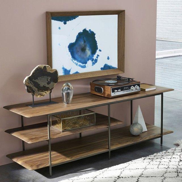 Meuble Tv Hi Fi Noyer Jacobson Meuble Tv Decoration Salon Moderne Etagere Noyer