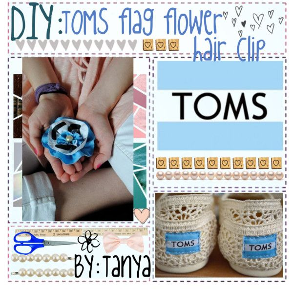 """DiY: TOMS flag hair accessory ♥"" by sunflower0 on Polyvore"