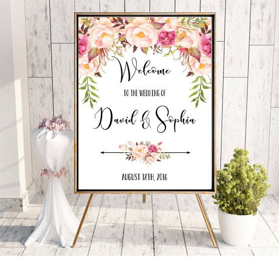 Welcome to the Wedding sign Printable Digital Personalized