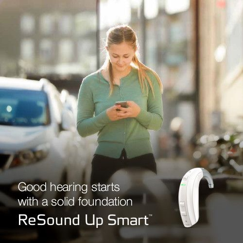 Good hearing starts with a solid foundation. Visit resound.com/en-US/hearing-aids/up-smart