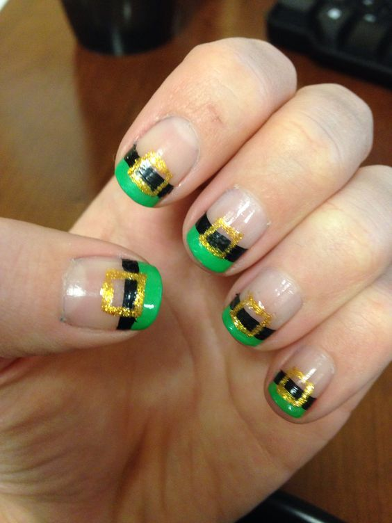 Leprechauns | 19 Easy St Patricks Day Nail Designs | Easy Nail Art for Beginners Step by Step