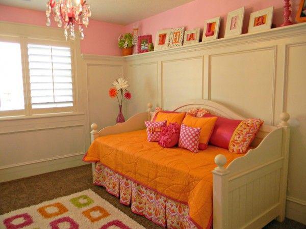 Orange and pink girls room - Design Dazzle