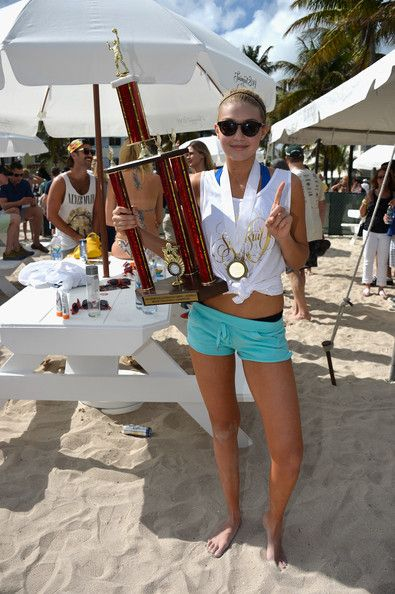 Gigi Hadid - Sports Illustrated Swimsuit Beach Volleyball Tournament on Ocean Drive