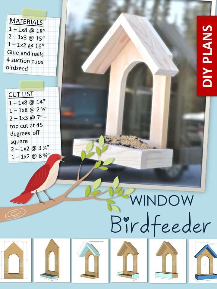 Ana White | Build a Window Birdfeeder | Free and Easy DIY Project and Furniture Plans @Brian Flanagan Ronk Please make one of these for the girls window!