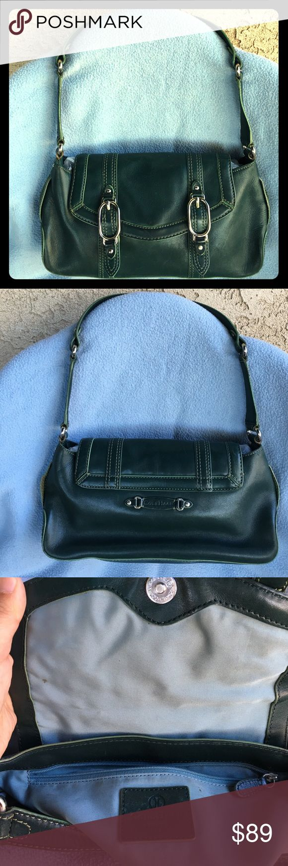 Vintage Trinity Cole Haan green leather purse Beautiful small green leather Cole Haan trinity handbag. Great condition. Cole Haan Bags Shoulder Bags