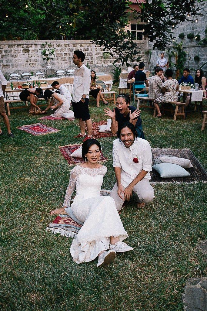 11 best wedding images on pinterest backyard weddings glamping intimate backyard wedding of rara and ben courtesy of kurniadi widodo junglespirit Images