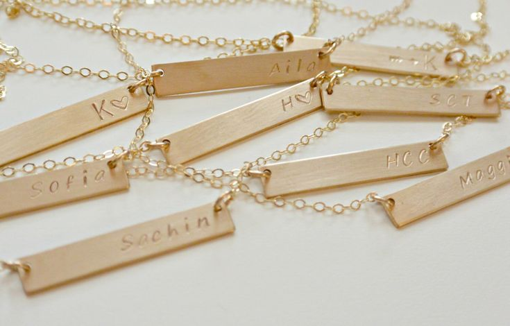 Personalized Bar Necklace, Silver, Gold, Rose Gold, Nameplate Necklace Personalized Jewelry, Gifts for Her, Best Friend, Graduation Gift by SilverLotusDesigns on Etsy https://www.etsy.com/listing/203278113/personalized-bar-necklace-silver-gold