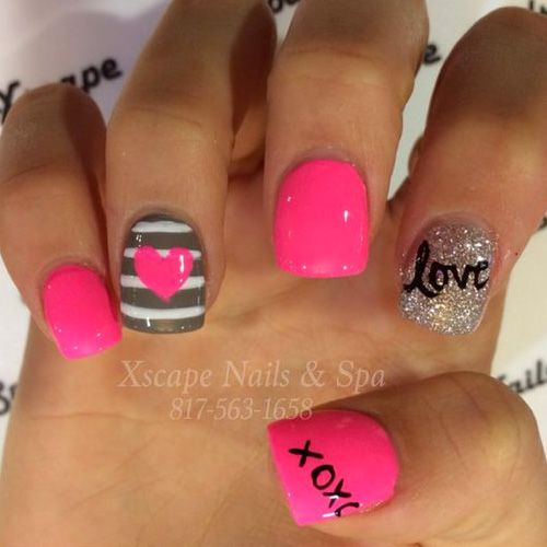Best 25+ Valentine day nails ideas on Pinterest | Valentine's day ...