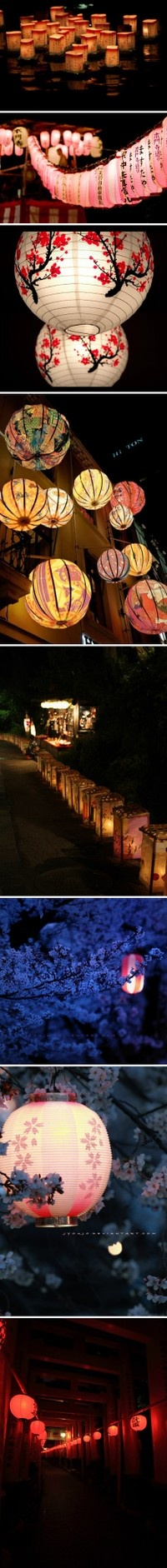 Everything is more romantic by paper lantern light.