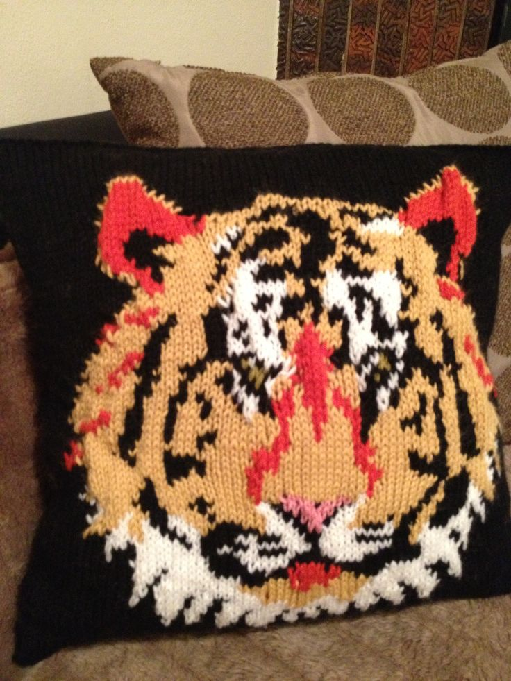 Tiger cushion for my friend who supports Richmond Football Club