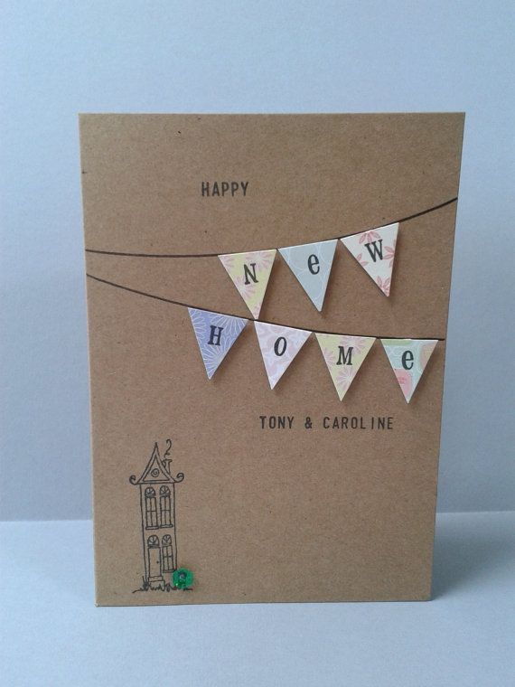 Happy New Home Card, Personalised, Housewarming Card, Handmade, Moving House, New house