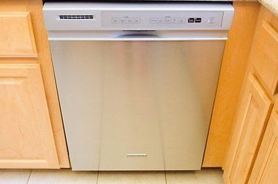 Stainless Steel Magnet Appliance Dishwasher Cover Kitchen