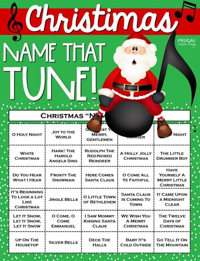 Christmas Name That Tune Printable Game Directions Christmas Names Christmas Song Games Fun Holiday Games
