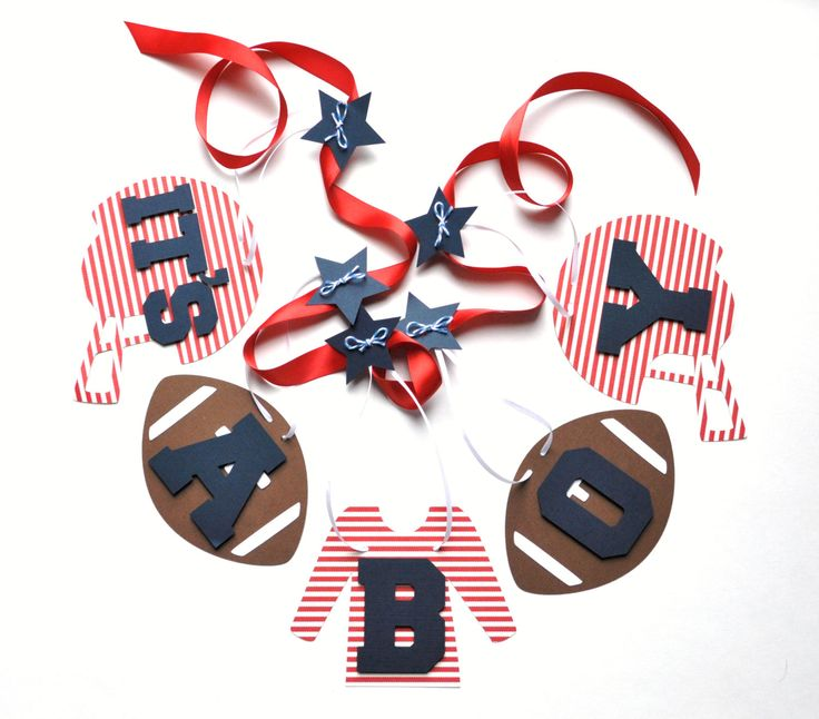football baby shower decorations red and blue by parkersprints