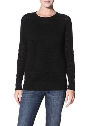 Shae Women's Open Stitch Sweater (Black)
