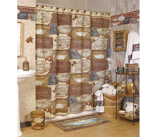Country shower curtains learn how country shower - How to decorate my bathroom ...