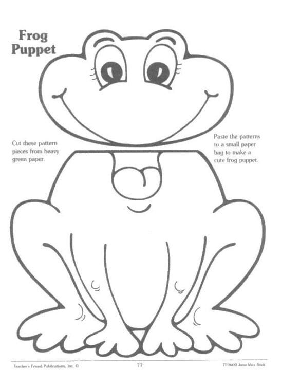 paper plate puppets templates - frog craft template the image kid has it