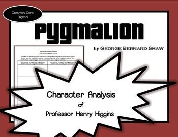 an analysis of the play pygmalion by george bernard shaw Pygmalion: transformation of eliza  act i of the play first introduces the reader to the rich of london  george bernard shaw's pygmalion:.