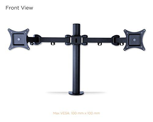 Mount-It! Articulating Dual Arm Computer Monitor Desk Mount for 27-Inch Monitors (MI-752) - http://www.rekomande.com/mount-it-articulating-dual-arm-computer-monitor-desk-mount-for-27-inch-monitors-mi-752/