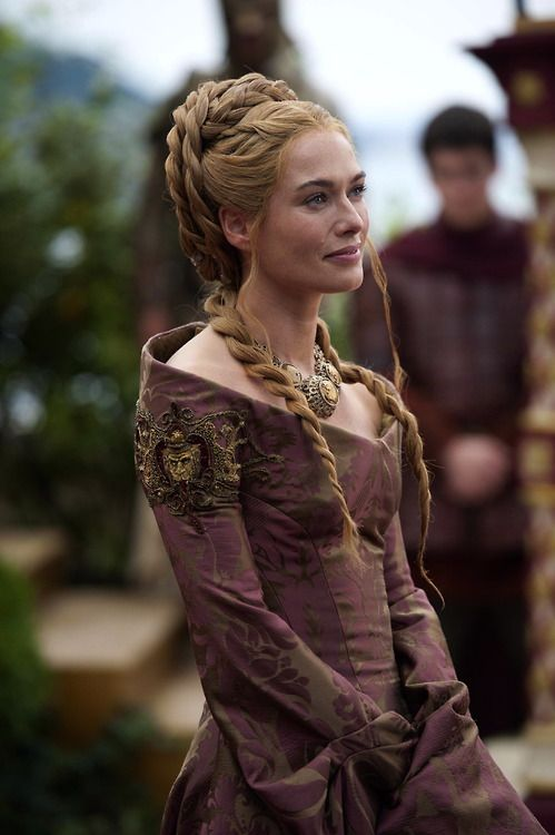 The Hair of Lena Headey as Cersei Lannister in Game of Thrones.